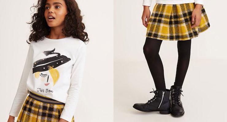 De plaid skirt is ook leuk voor je kleine